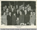 President Elliott and others on launching day of S.S. Purdue Victory