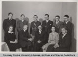 Members of the Student War Council with Wayne Coy