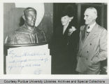 E.C. Elliott with sculpture