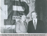 Evansville Mayor Russell G. Lloyd and President Hansen