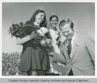 President Arthur G. Hansen with Homecoming Queen