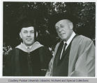 President F.L. Hovde and James R. Burnett