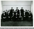 President F.L. Hovde with honorary degree candidates