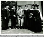 President F.L. Hovde and others