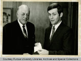 President F.L. Hovde and Kenneth L. Schwab