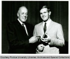 President F.L. Hovde and Robert Griese