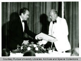 President F.L. Hovde and President Richard Nixon