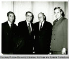 President F.L. Hovde and others at honors luncheon