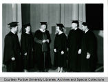 President F.L. Hovde and graduates