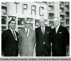 President F.L. Hovde and others at dedication of TPRC