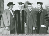President F.L. Hovde and others in robes