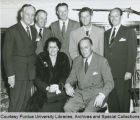 President F.L. Hovde and others in Hollywood