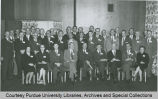 President F.L. Hovde in group portrait, Conference for European Extension Leaders