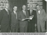 President F.L. Hovde and Purdue administrators