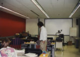 Students and instructor in computer lab in Hicks Undergraduate Library