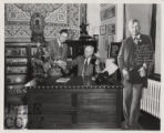 T.R. Johnston and John H. Moriarty in Special Collections Library
