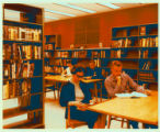 Students studying in HSSE Library Bookstall