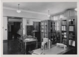 Cabinets and tables in Special Collections Library
