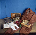 Amelia Earhart artifacts in Special Collections Library