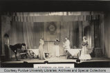Actors onstage, enacting Mistress of the inn