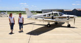 Juliana Lindner and Lauren Steele at Purdue Airport