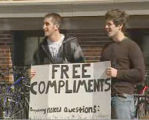 """The Compliment Guys,"" Brett Westcott and Cameron Brown on campus"