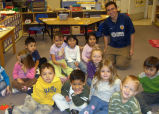 David Lubowski with Lafayette Head Start students