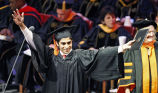 Engineering student celebrates at graduation