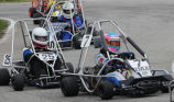 John Laski and Liz Lehmann racing in Purdue Grand Prix