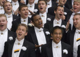 Purdue Varsity Glee Club singing at performance