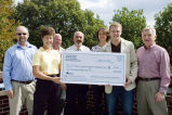 Boiler Green Initiative receiving check