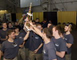 Purdue students celebrate after Rube Goldberg Machine Contest