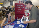 Chris Waldron and Ashley Rooney at Activities Fair