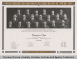 Group portrait of Newman Club from Purdue yearbook