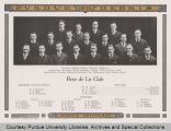 Group portrait of Fleur de Lis Club from Purdue yearbook